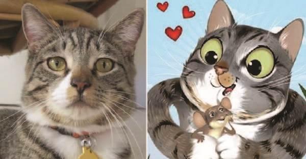 10 ภาพสัตว์เลี้ยงที่เปลี่ยนเป็นตัวการ์ตูนสุดน่ารัก