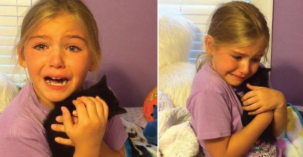 เด็กน้อยน้ำตาแตกหลังถูกเซอร์ไพรซ์วันเกิด เป็นลูกแมวดำที่เหมือนกับตัวที่ตายไปแล้ว !
