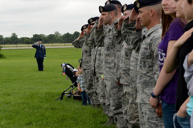 Military Working Dog Breston, a 9-year-old Belgian Malinois, was honored during a memorial service July 9, 2015, at Scott Air Force Base, Ill. The canine received was laid to rest June 18, 2015 after serving eight years and six months in the Air Force, including a deployment to Afghanistan. (U.S. Air Force photo/ Airman 1st Class Kiana Brothers)