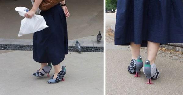 ไอเดียอย่างแจ่ม!!! ชาวเนตกำลังแห่แชร์สาวชาวญี่ปุ่นใส่รองเท้านกพิราบอย่างเจ๋ง..มีวิธีทำอีกด้วย