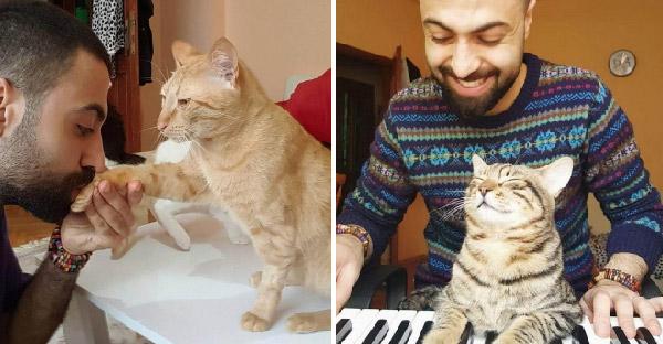 นักเปียโนหนุ่มช่วยชีวิตแมวจรจัด 9 ตัว จนตอนนี้เขากลายเป็นทาสแมวเต็มตัวไปซะแล้ว