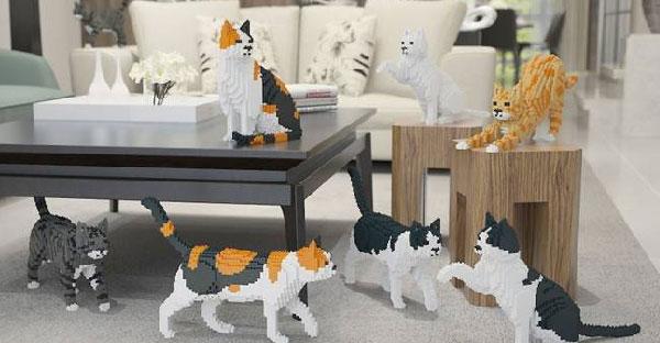 """""""เลโก้แมวเหมียว"""" คอลเลคชั่นน่ารักในอิริยาบทที่เหมือนแมวจริงเป๊ะ..สำหรับคนรักแมวนะจ้ะ ♥"""