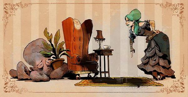 """ศิลปินดิสนีย์วาดการ์ตูน """"ชีวิตที่มีปลาหมึกเป็นสัตว์เลี้ยง"""" ดูสร้างสรรค์และแปลกตามากๆ"""