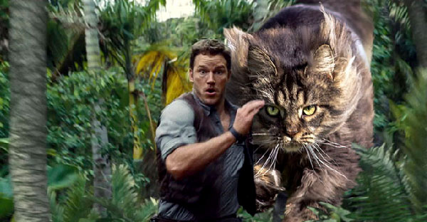 """โคตรฮา!! เมื่อน้องเหมียวแปลงร่างแทนที่ไดโนเสาร์จนกลายเป็น """"จูราสสิค แคท"""""""