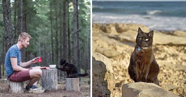 ชายหนุ่มขายทรัพย์สินทั้งหมดเพื่อท่องเที่ยว แต่ทิ้งเจ้าแมวดำไม่ลง จึงพาไปด้วยกันซะเลย