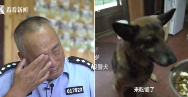 ตำรวจกลั้นน้ำตาไม่อยู่ หลังเห็นสภาพชีวิตสุนัขตำรวจปลดเกษียณ ควักเงินเก็บ 5 ล้านสร้างบ้านให้อยู่