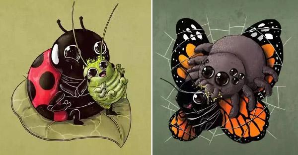 ศิลปินวาดการ์ตูนสัตว์โลก ของผู้ล่าและผู้ถูกล่าเพื่อความสมดุลของระบบนิเวศธรรมชาติ