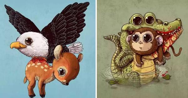 ศิลปินวาดการ์ตูนอธิบายสัตว์โลก ที่สะท้อนความจริงของระบบนิเวศได้อย่างน่าสนใจ