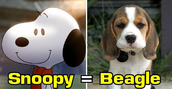 เฉลยสายพันธุ์สุนัขในการ์ตูนชื่อดัง ว่าแท้จริงแล้วคือสายพันธุ์ไหนกัน