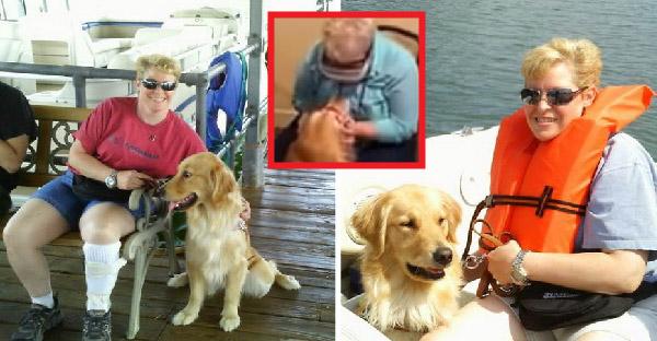 หญิงตาบอดเห็นสุนัขนำทางเป็นครั้งแรกในรอบ 8 ปี และทั้งคู่ก็กอดกันทั้งน้ำตา