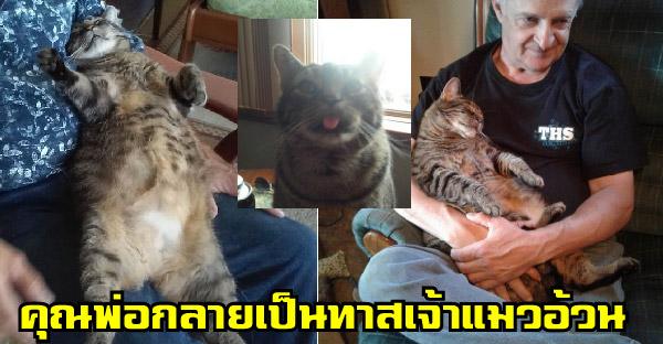 สาวช่วยชีวิตลูกแมวจรเมื่อ 10 ปีก่อน และมันออเซาะเก่งจนคุณพ่อหลงใหล ต้องกอดก่อนไปทำงานทุกวัน