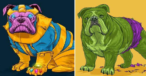ศิลปินวาดสุนัขในเวอร์ชั่นตัวละคร Marvel ออกมาได้อย่างน่าทึ่ง