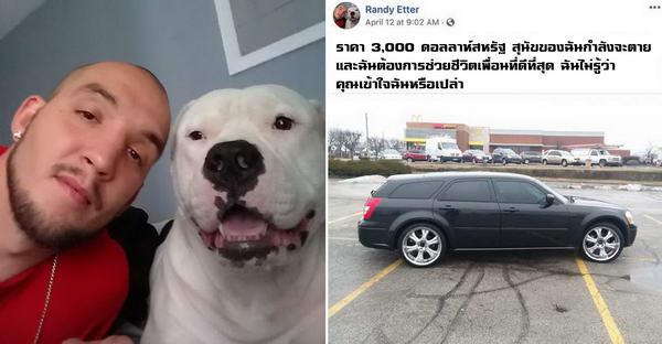 ชายหนุ่มตัดสินใจขายรถสุดรัก เพื่อต่อลมหายใจให้สุนัขของเขา