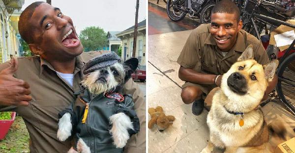 พนักงานขับรถของ UPS ถ่ายภาพกับสุนัขทุกตัวที่เจอ จนกลายเป็นภาพน่ารักๆบนโลกออนไลน์