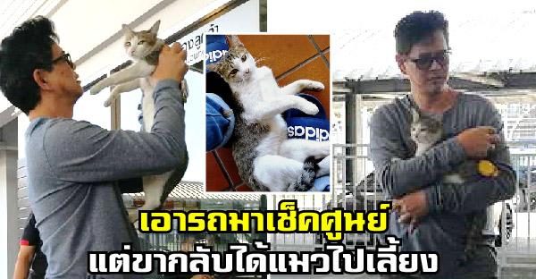 หนุ่มเอารถมาเช็คศูนย์เผลอตัวเล่นกับแมวจร ขากลับทำใจไม่ได้ จึงขอเอากลับไปเลี้ยงด้วย