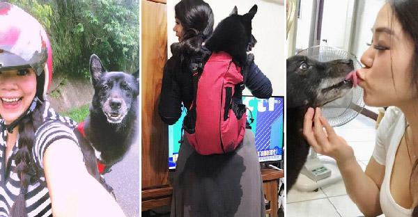 สาวหิ้วหมาสูงอายุไปเที่ยวด้วยกันทุกที่ แม้จะเคยโดนฉี่ใส่หลังแต่เธอเข้าใจและไม่โกรธซักนิด