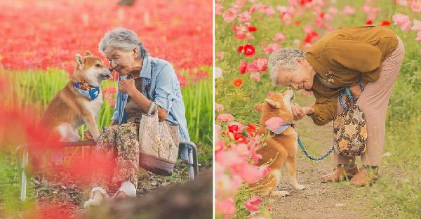 หลานชายถ่ายภาพอบอุ่นหัวใจ ของคุณยายและสุนัขของเธอ