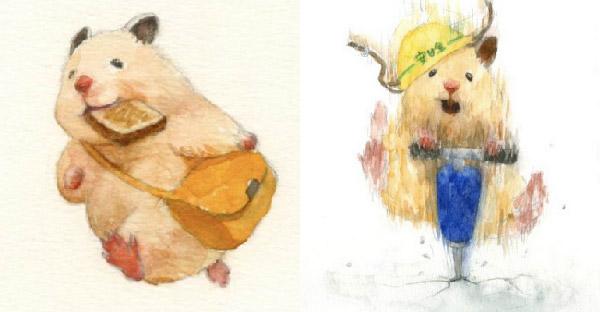 ศิลปินชาวญี่ปุ่นวาดวิถีชีวิตหนูแฮมสเตอร์ ที่ไลฟ์สไตล์เหมือนมนุษย์ จนได้ผลลัพธ์น่ารักมากจริง ๆ