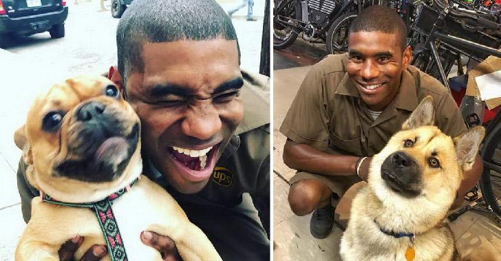 พนักงานขับรถส่งของ UPS ถ่ายภาพกับสุนัขทุกตัวที่เจอ ส่งต่อความสุขให้ทุกคนบนโลกออนไลน์